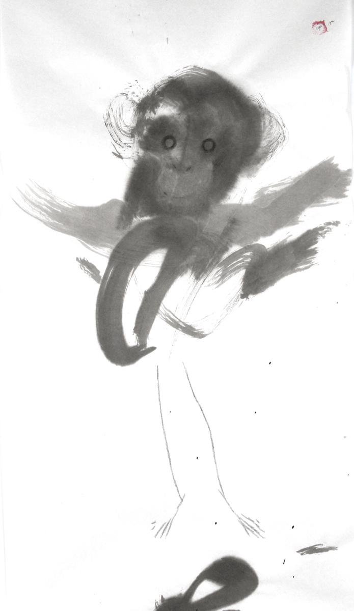 Stick figure chimp (large view)
