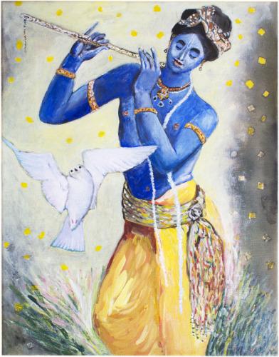 Lord Krishna and Fairy Tern