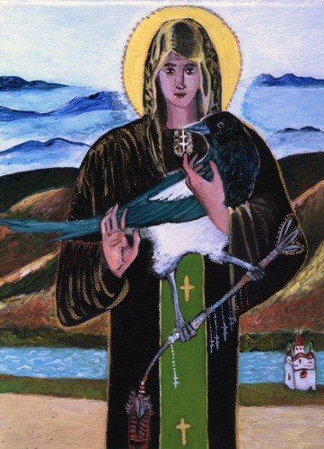 St Petka With Magpie