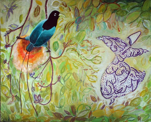 Blue Bird Of Paradise with Whirling Dervish.