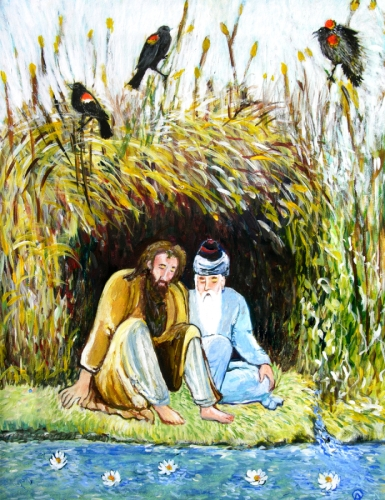 Rumi and Shams With Red Winged Blackbirds