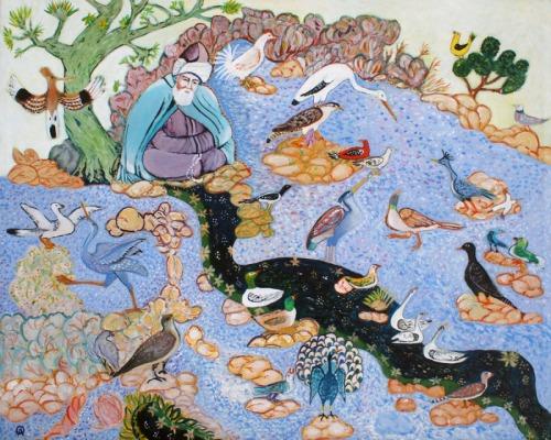 Rumi With Birds