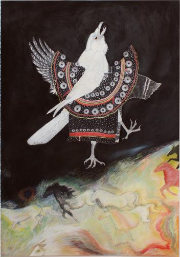 White Raven and Wild Horses