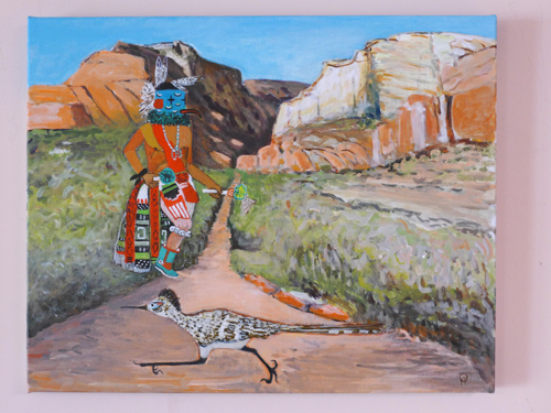 Hospoa - Road Runner Kachina and his namesake