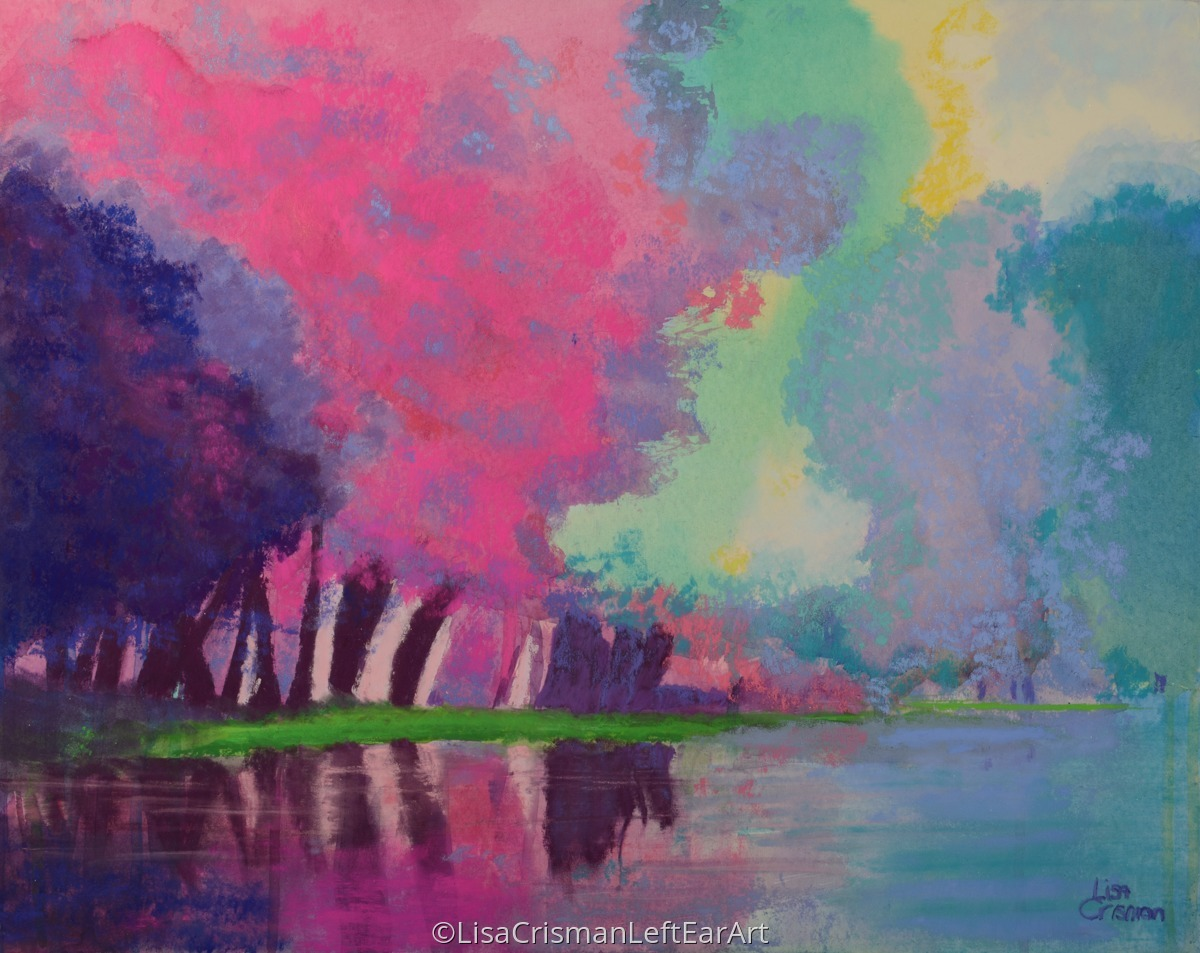 Impressionist pastel paintings chroma exhilaration by for Chroma mural paint