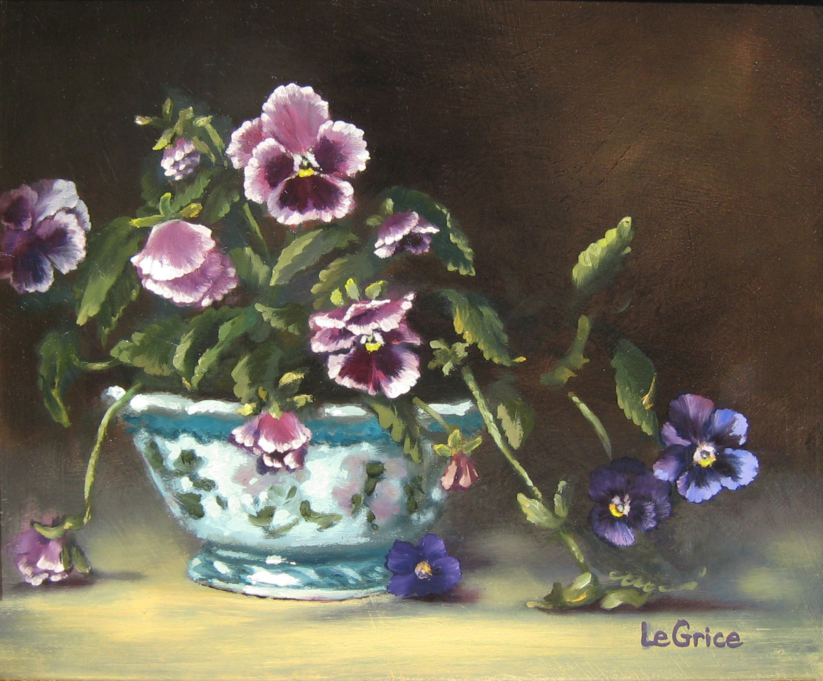 """Pansies I"" (large view)"