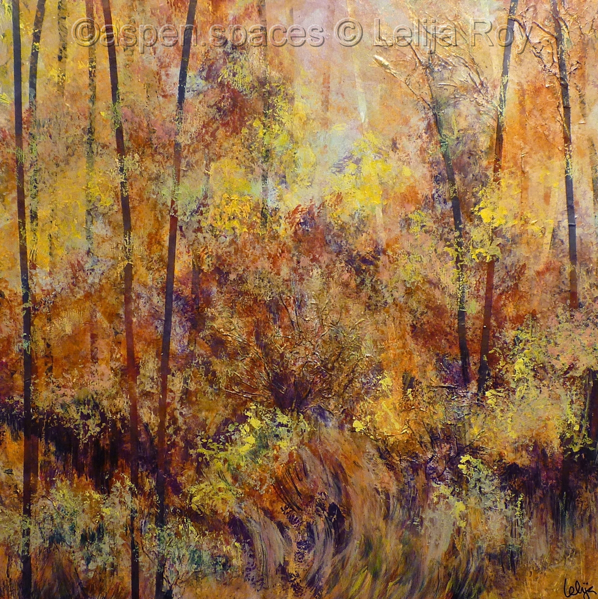 October Winds 24x24 © Lelija Roy (large view)