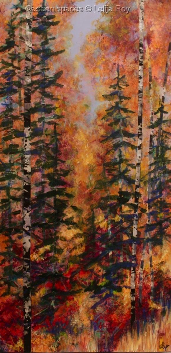 """Autumn Entrance 36x18"""" (large view)"""