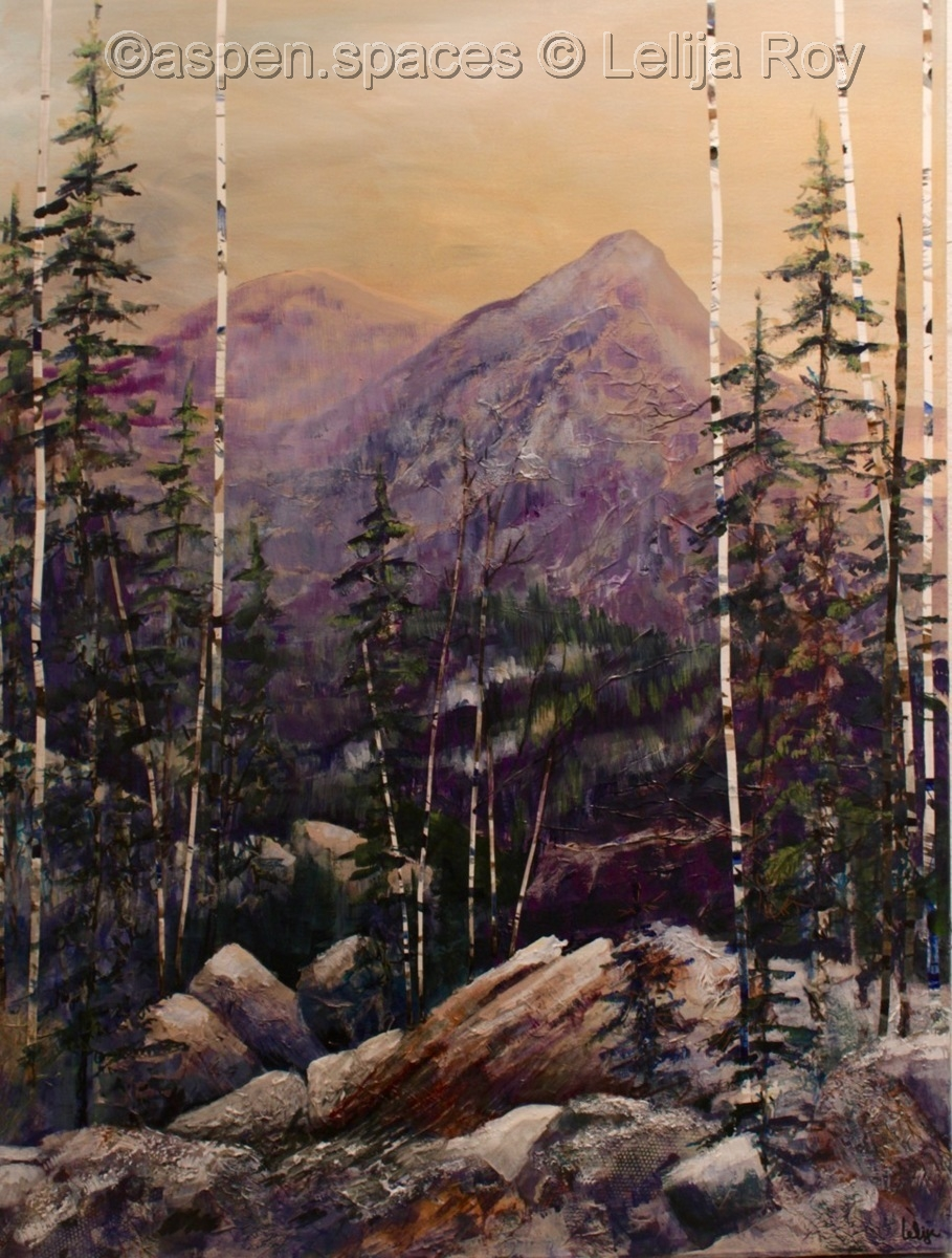 Mountain Blessings 40x30 (c) Lelija Roy (large view)