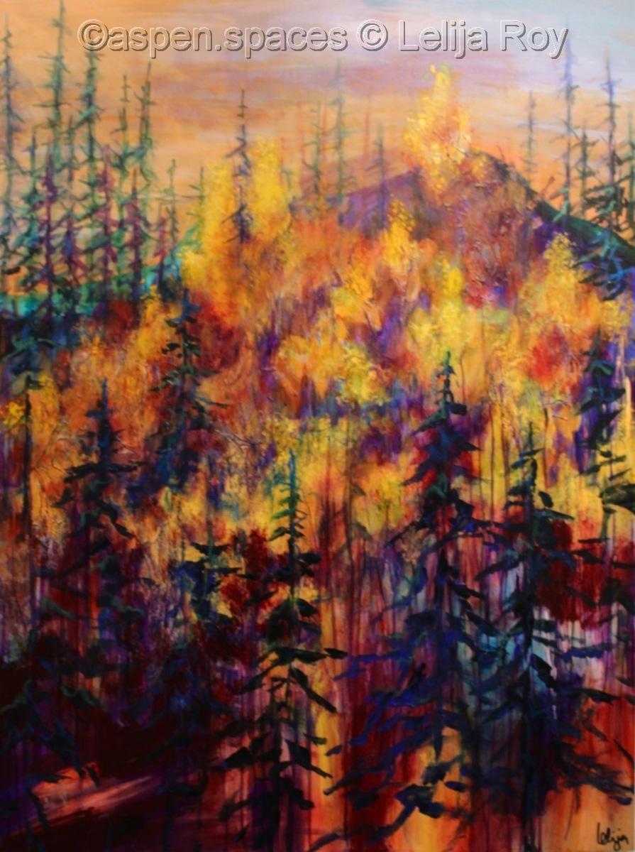 Sunset Mountain 40x30  (c) Lelija Roy (large view)