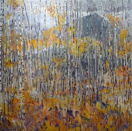 Waiting for Winter 48x48 (diptych) (c) Lelija Roy