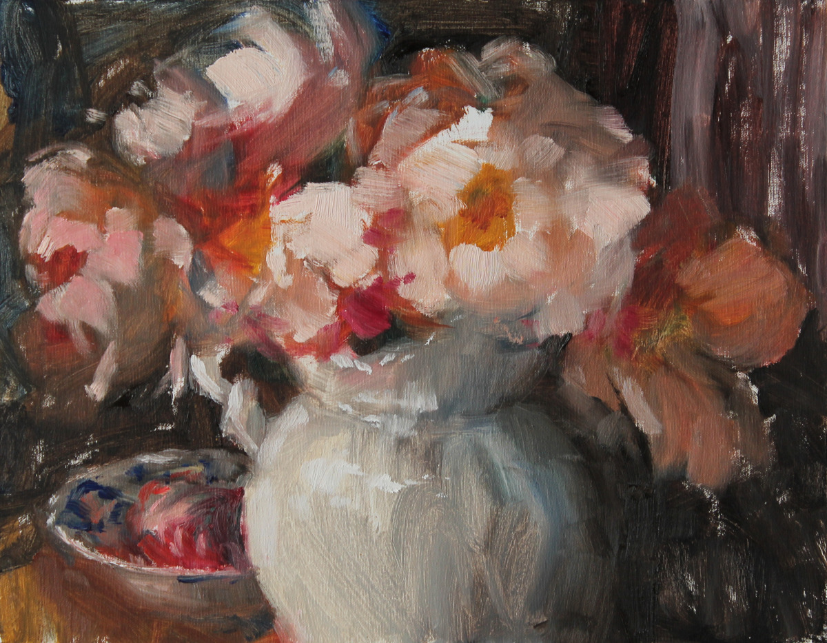 Apricot Peonies (large view)