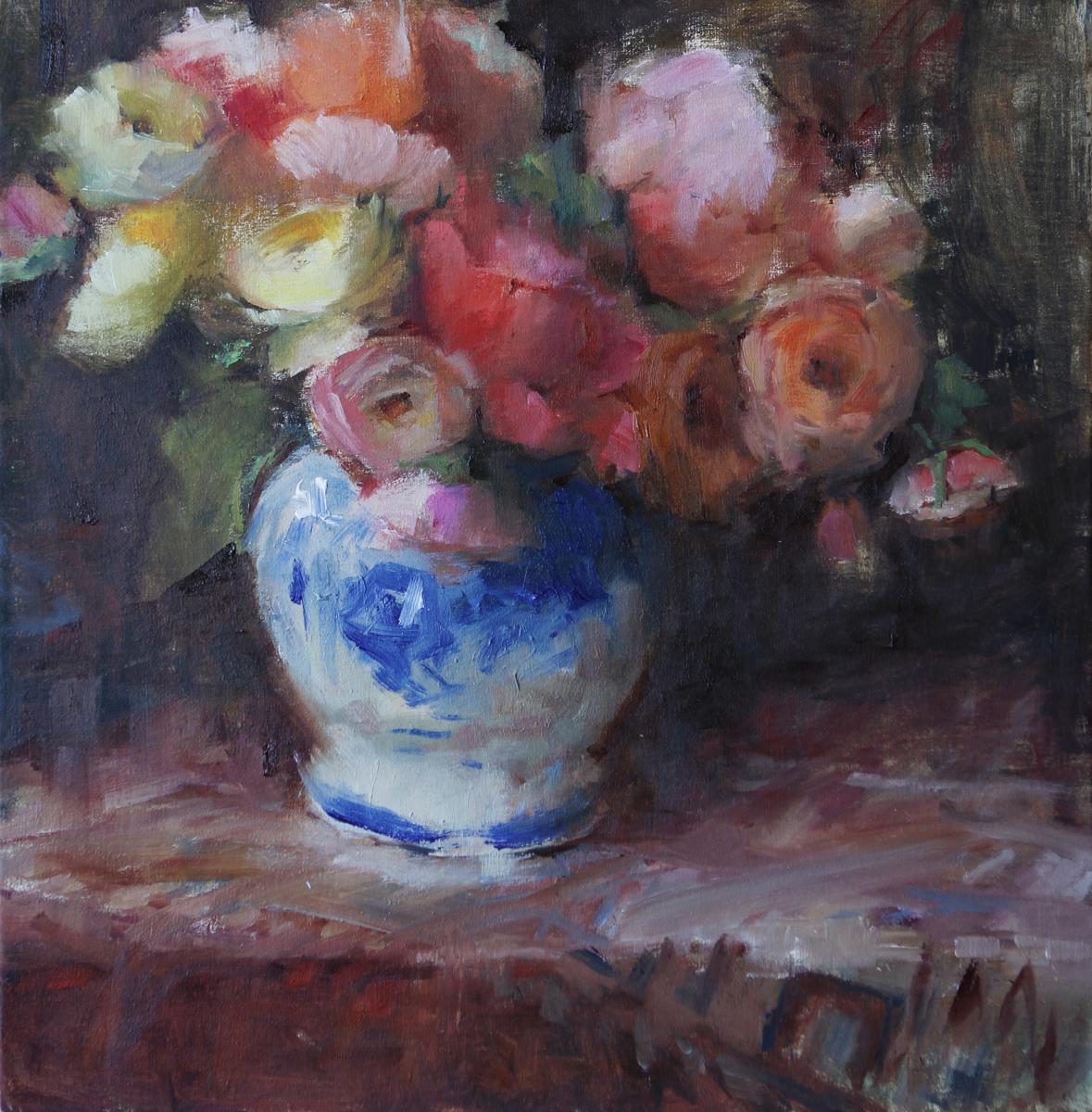 Roses and Ranunculus (large view)