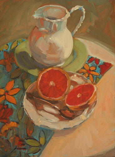 Pitcher with Grapefruit, 2009 (large view)