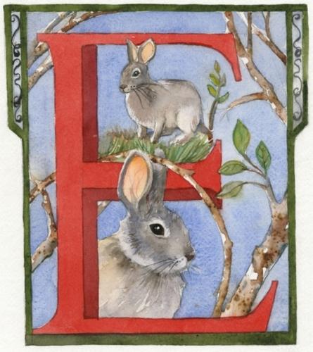 Monogram E Watercolor