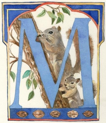 Monogram M Watercolor
