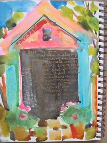 Black door with journaling about Gratitude
