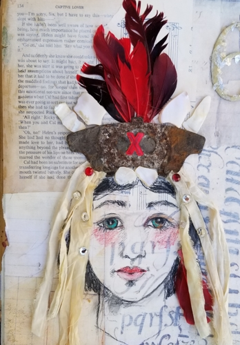Gypsy with Red Feathers