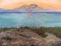 Sunrise over Lava Rocks