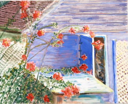 Neighbor's Roses