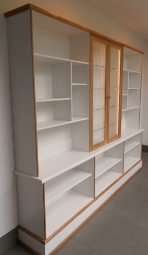 Built in bookshelf and china cabinet
