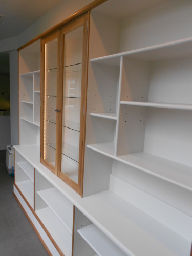 Built-in Bookshelf with china Cabinet