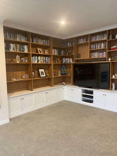 built-in Entertainment Center and Library by Lee Gutterson
