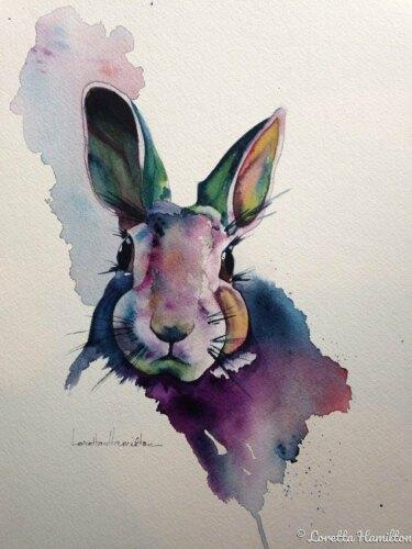 """Summer Bunny"" by Loretta Hamilton"