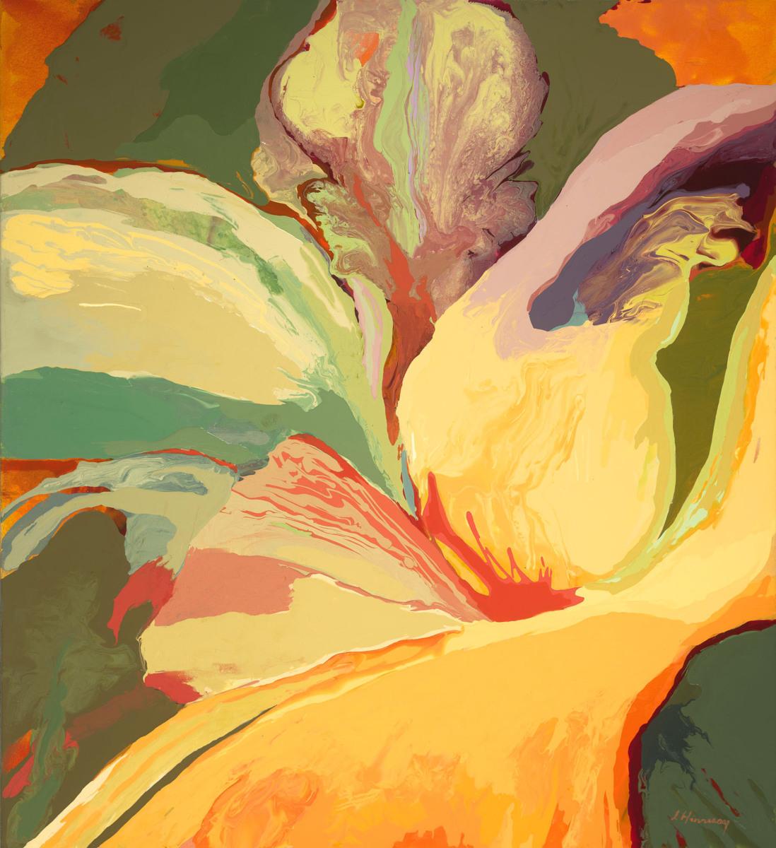 painting fleur de lys original art by lynn hennessy fine art. Black Bedroom Furniture Sets. Home Design Ideas