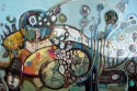 Painting, portrait, mixed media, contemporary. decorative, allegorical, abstract (thumbnail)