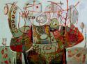 painting, acrylic, decorative, contemporary, framed (thumbnail)