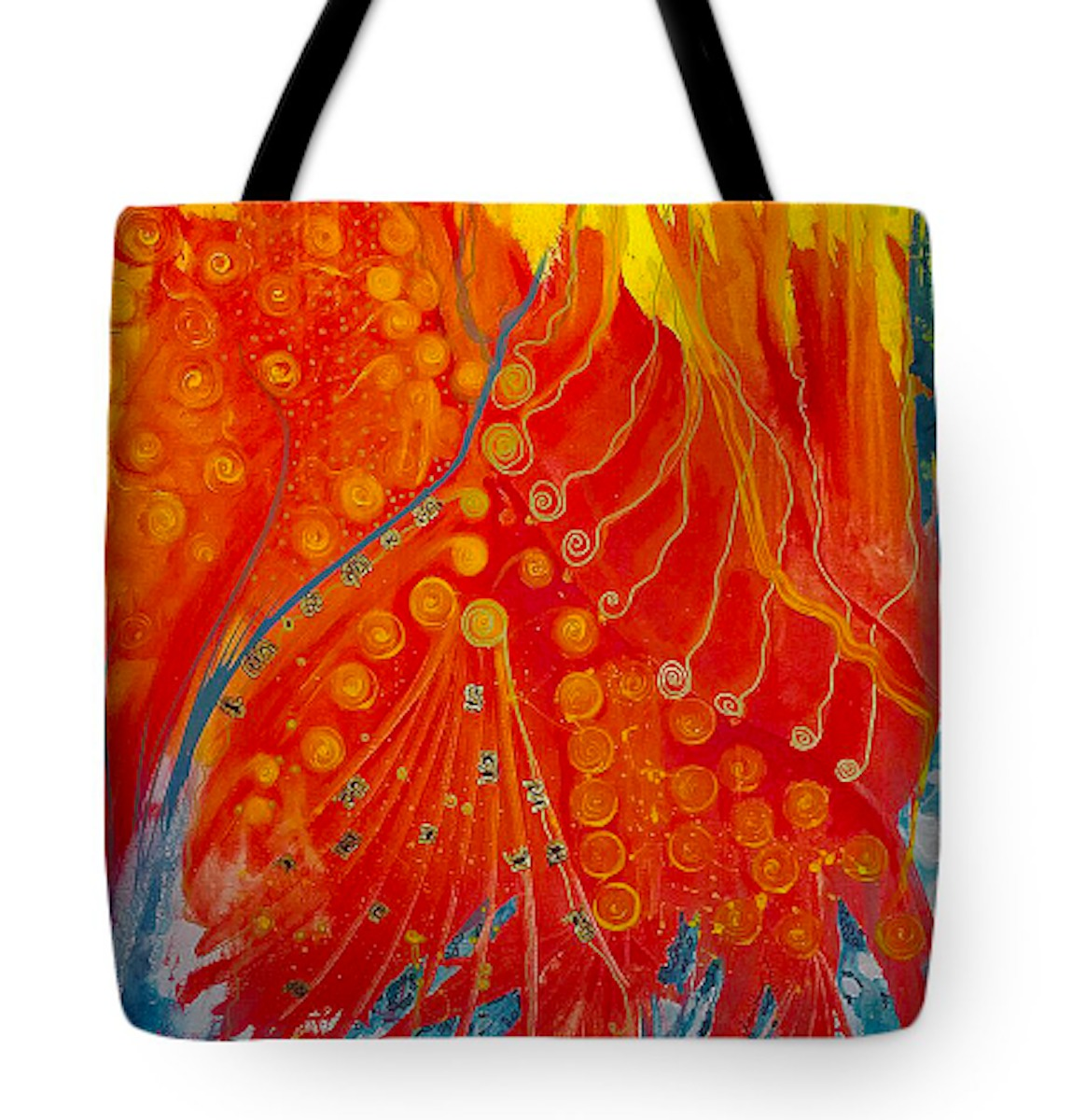 The Fire Peacock Tote Bag (large view)