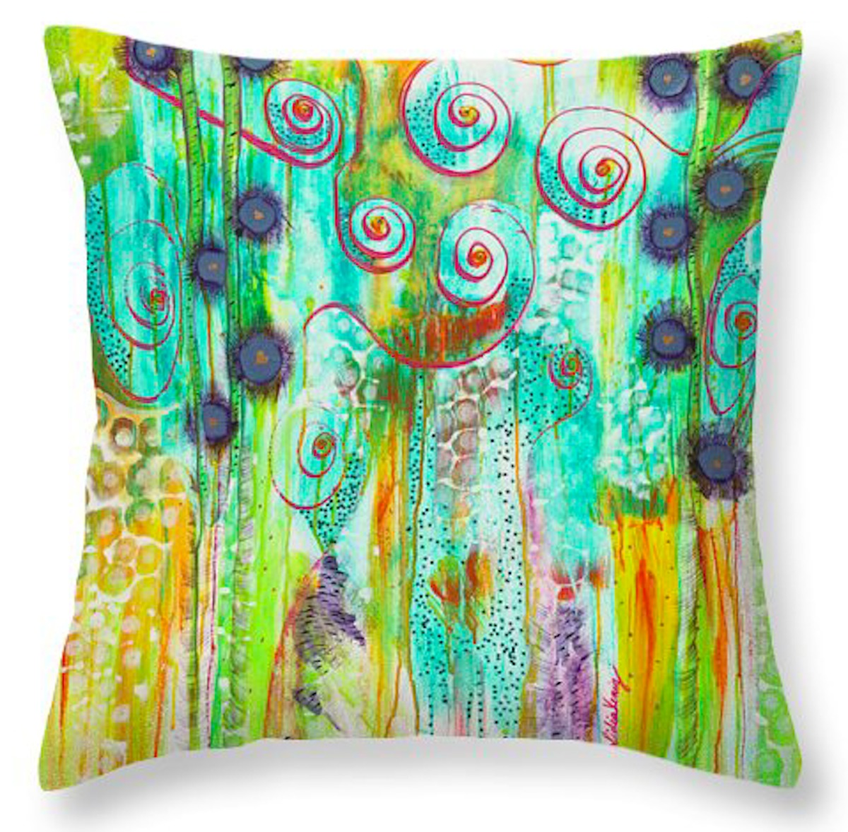 Inviting Healing - Throw Pillow (20x20) (large view)