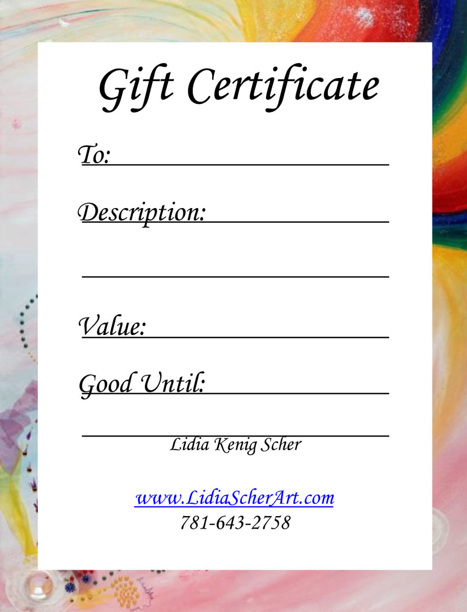 Gift Certificate (large view)