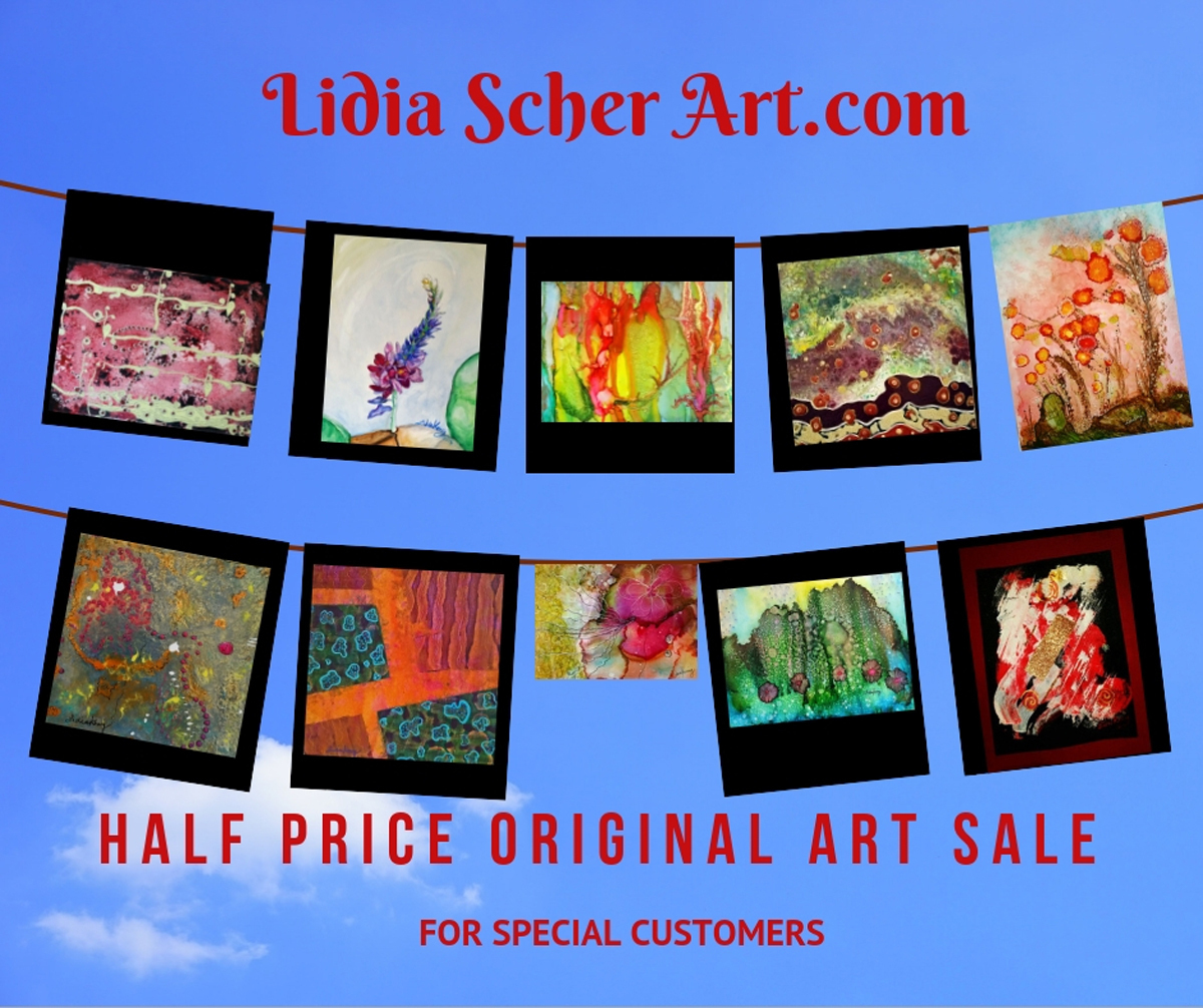 Art Sale 2018- Click on any image above (large view)