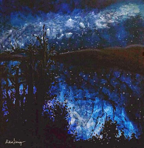 Night Reverie by Lidia Scher Art
