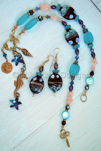 Ocean Inspired Charm Necklace Set