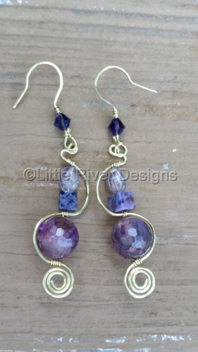 Amethyst and Lace Earrings