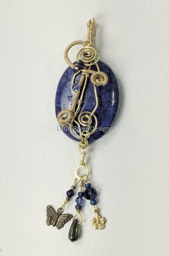 Violet Lace Agate Charm Pendant