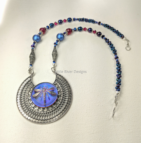 Dragonfly Medallion Necklace