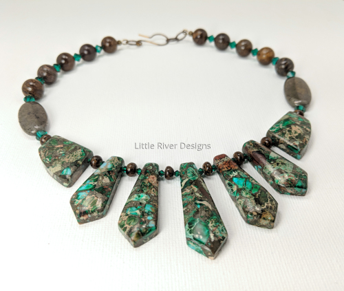 Emerald Jasper Necklace