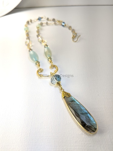 Labradorite and Agate Necklace