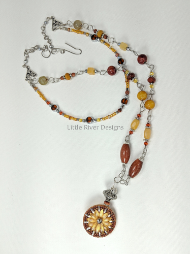 Autumn Daisy Double Tiered Necklace