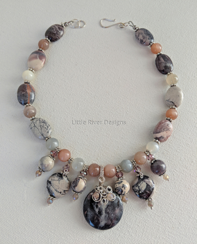 Terra Rosa and Sterling necklace