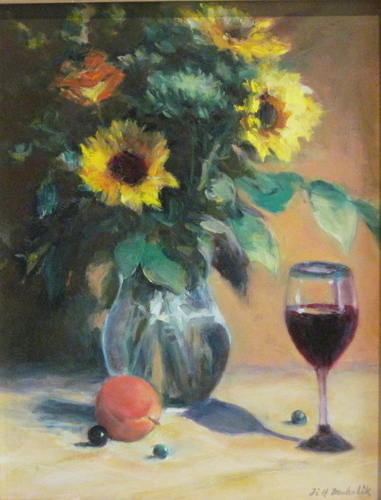 Sunflowers with Peach