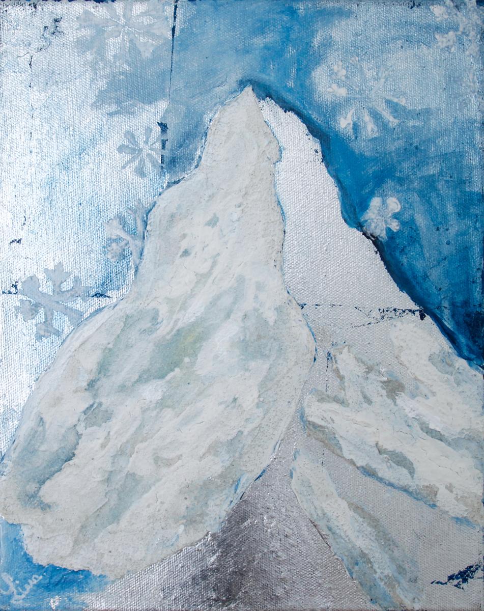 Snow on Matterhorn (large view)