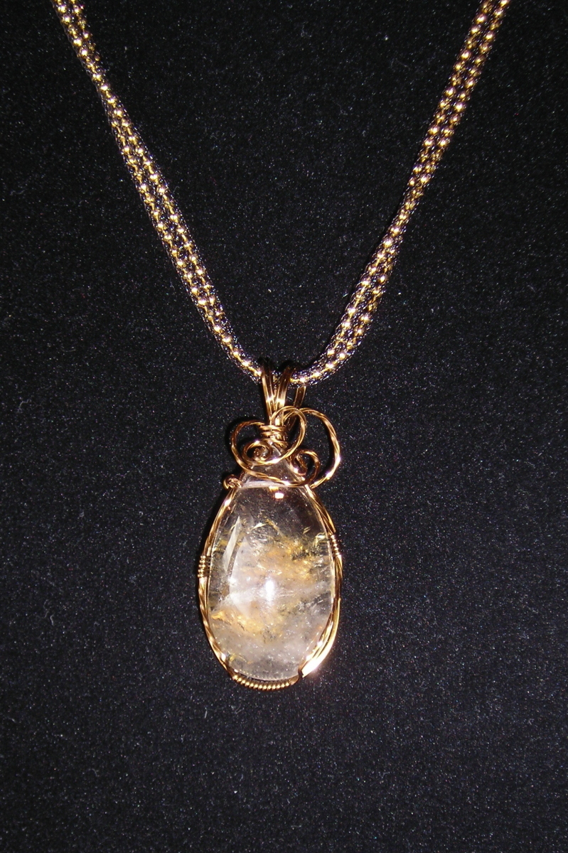 Citrine cab Wrapped in Vintage Bronze (large view)