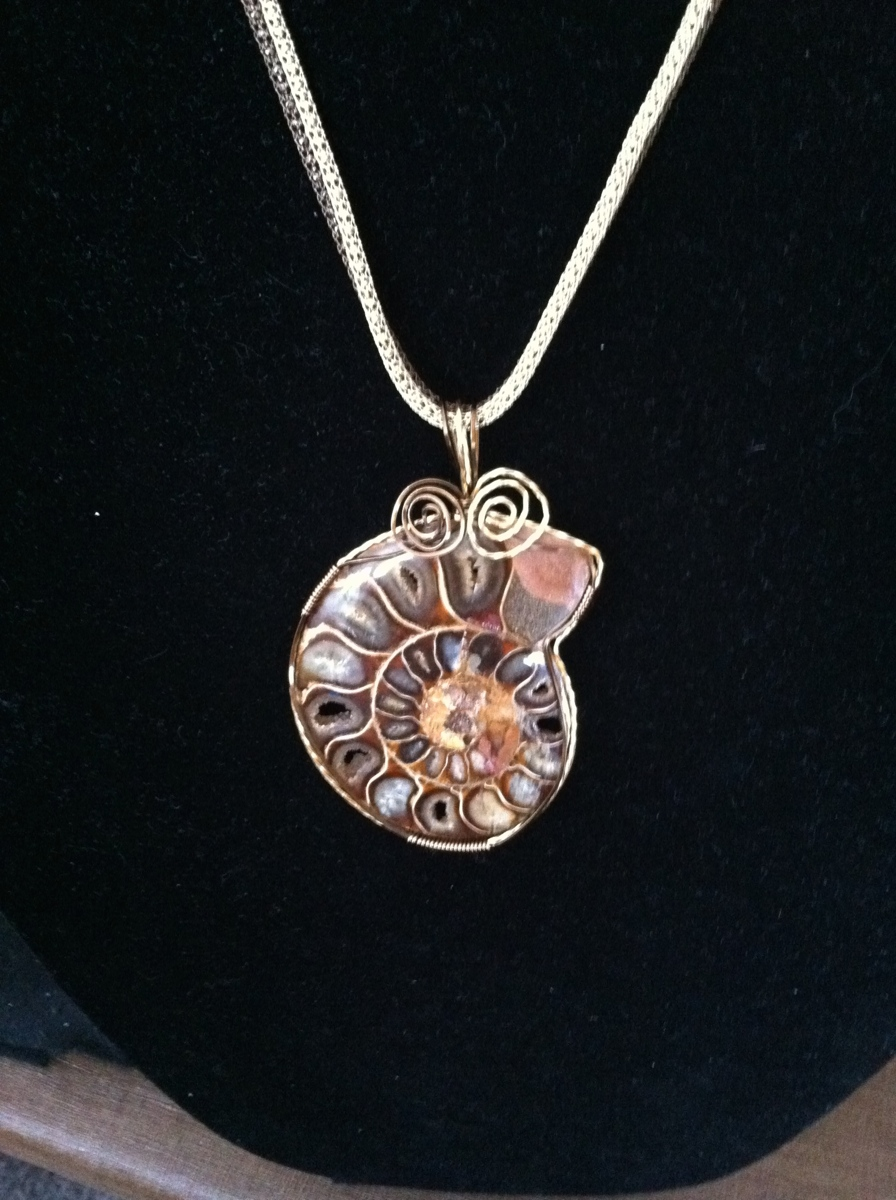 Opalized ammonite (large view)