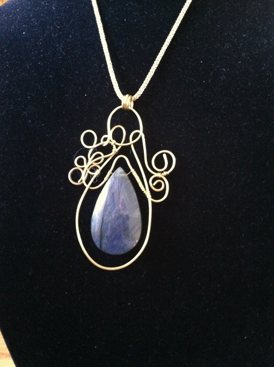 Labradorite teardrop (large view)
