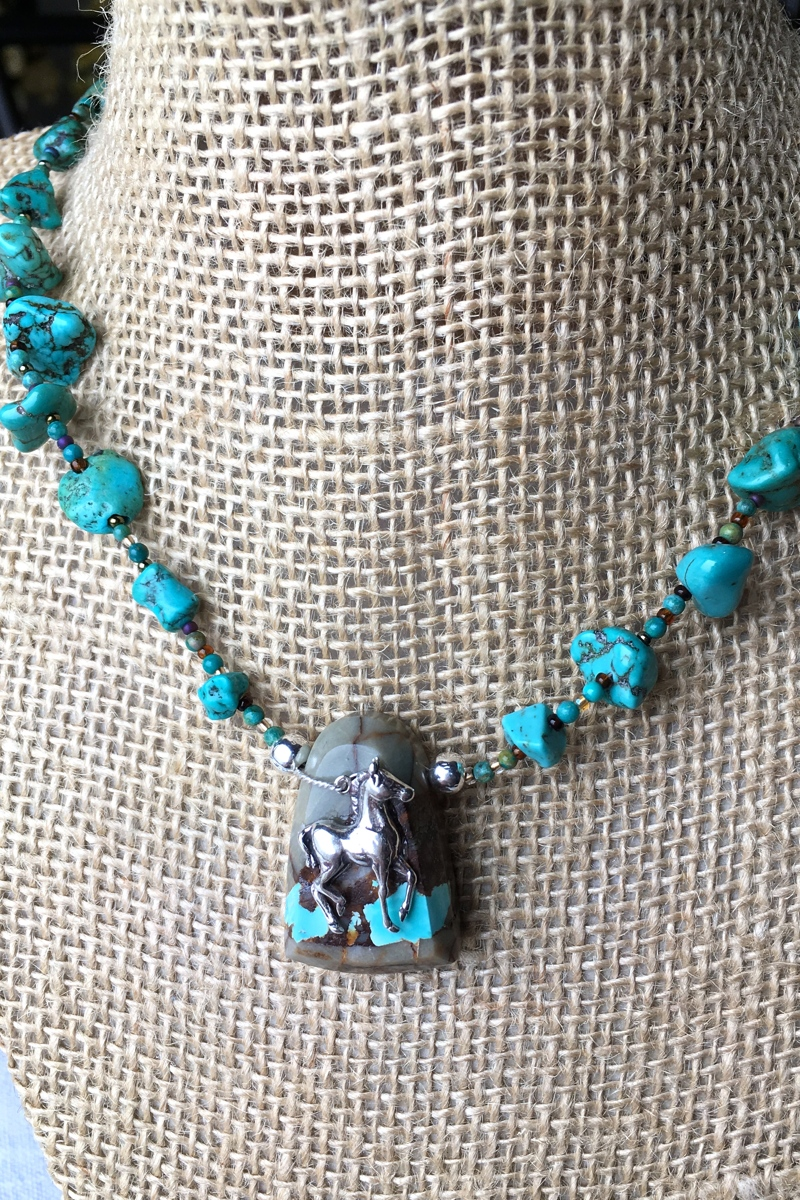 Silver Foal on Turquoise (large view)